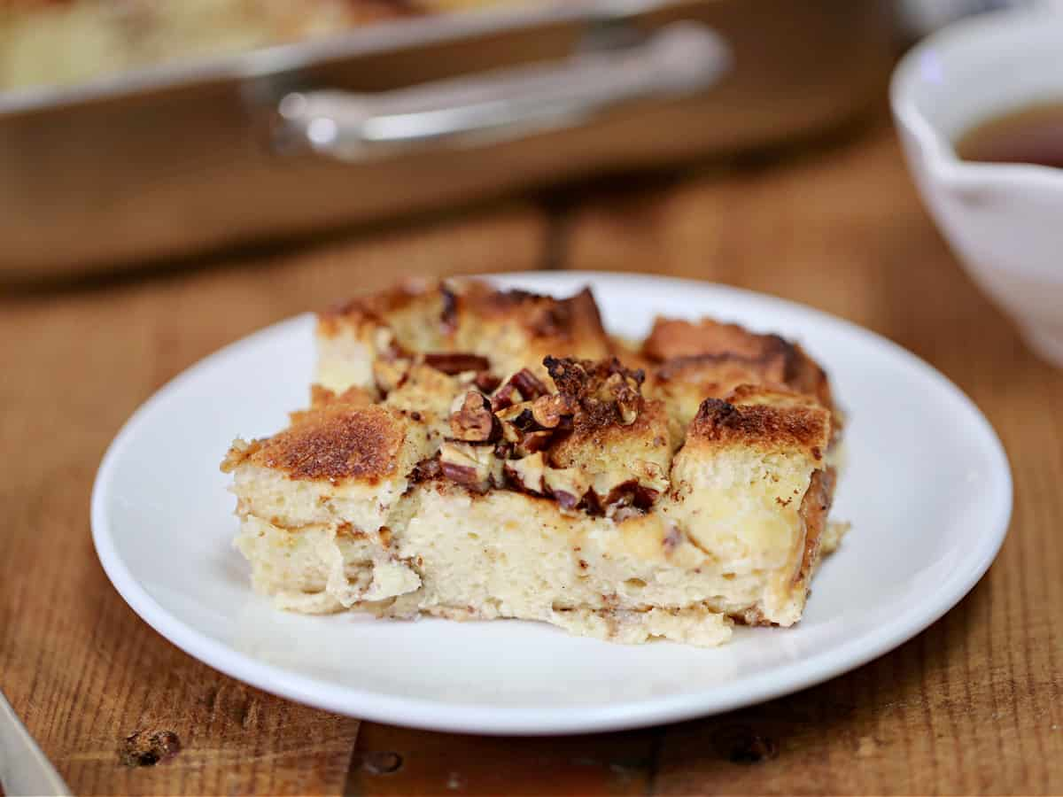 French toast casserole on plate