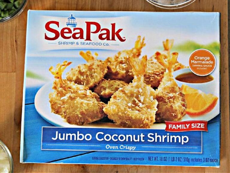 box of SeaPak Jumbo Coconut Shrimp