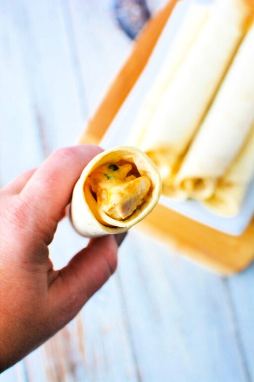 viewing the inside of a taquito