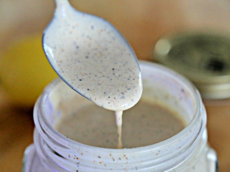 spoonful of Alabama White Sauce