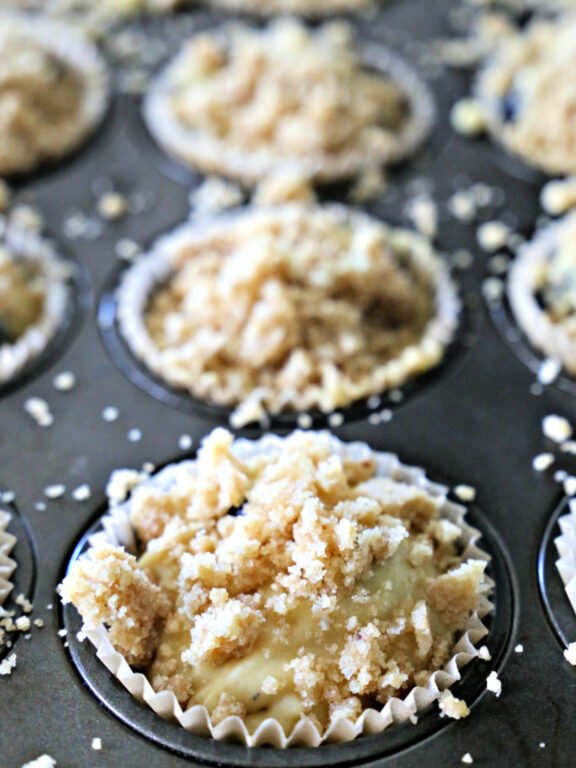 unbaked blueberry muffins