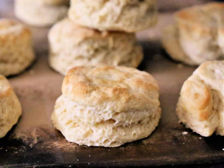 biscuits on baking stone