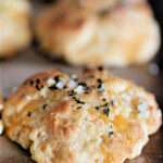 cheddar biscuits with parsley, garlic, and butter brushed on top