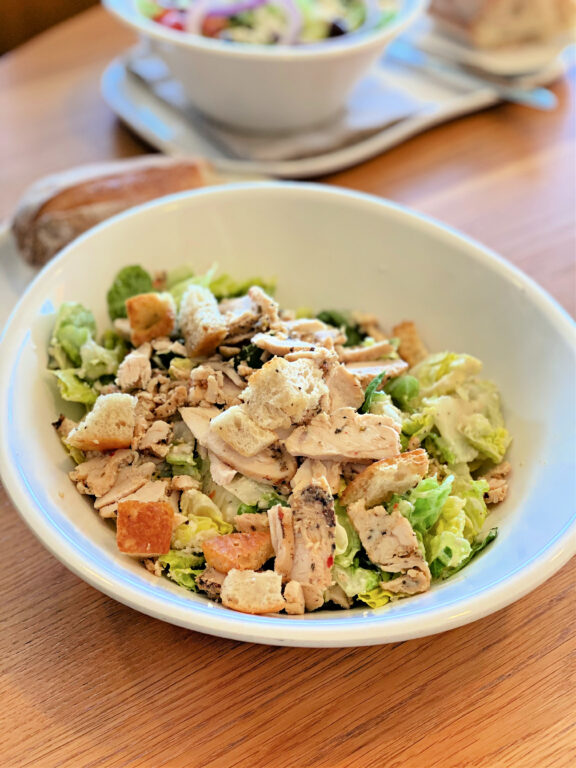 full size Panera Caesar Salad with Chicken