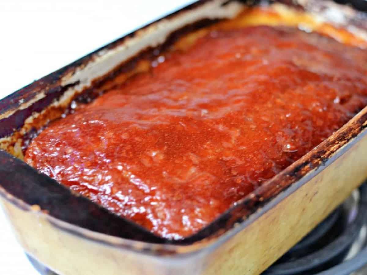 brown sugar glaze on a meatloaf