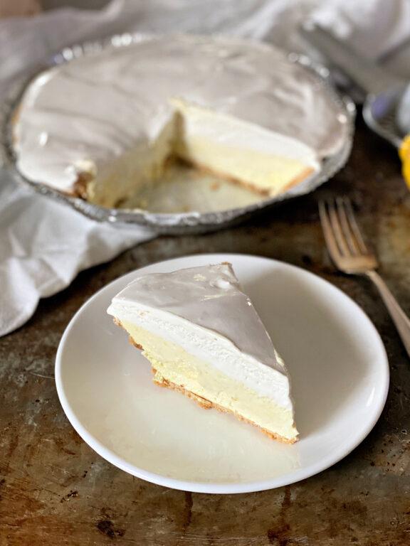 slice of Lemon Icebox pie