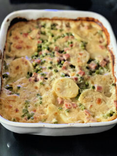 baked scalloped potatoes and ham casserole