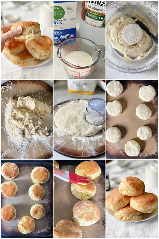 steps of making southern biscuits