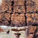 brownie slices on foil