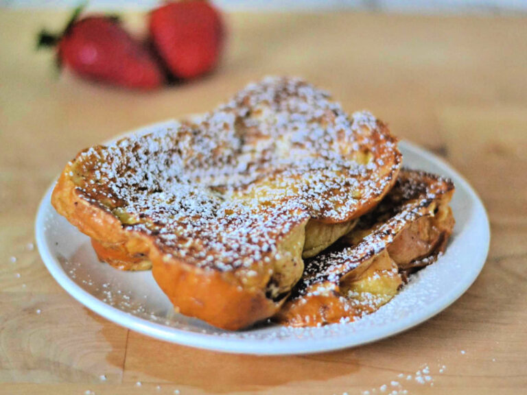 French toast with powdered sugar on top