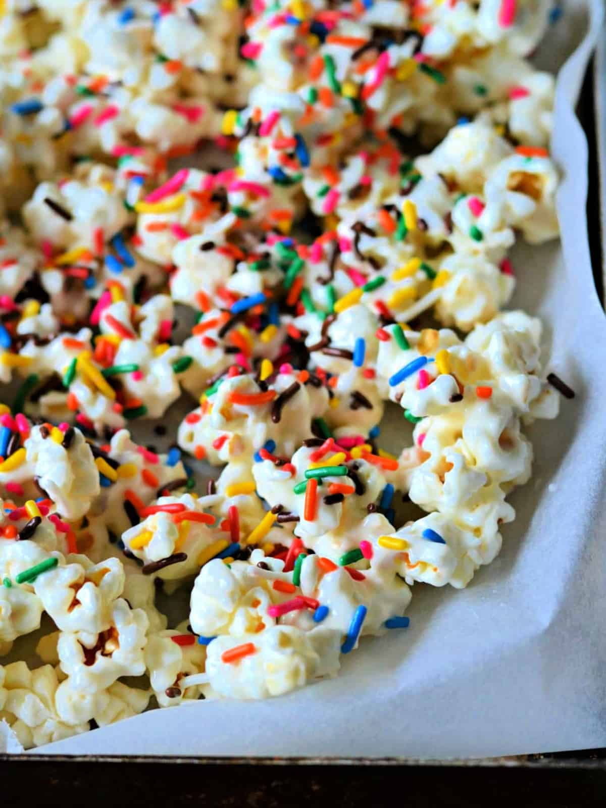 gourmet popcorn with sprinkles