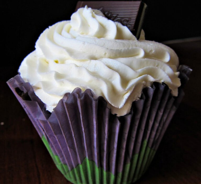 Mocha Cupcake with homemade buttercream frosting