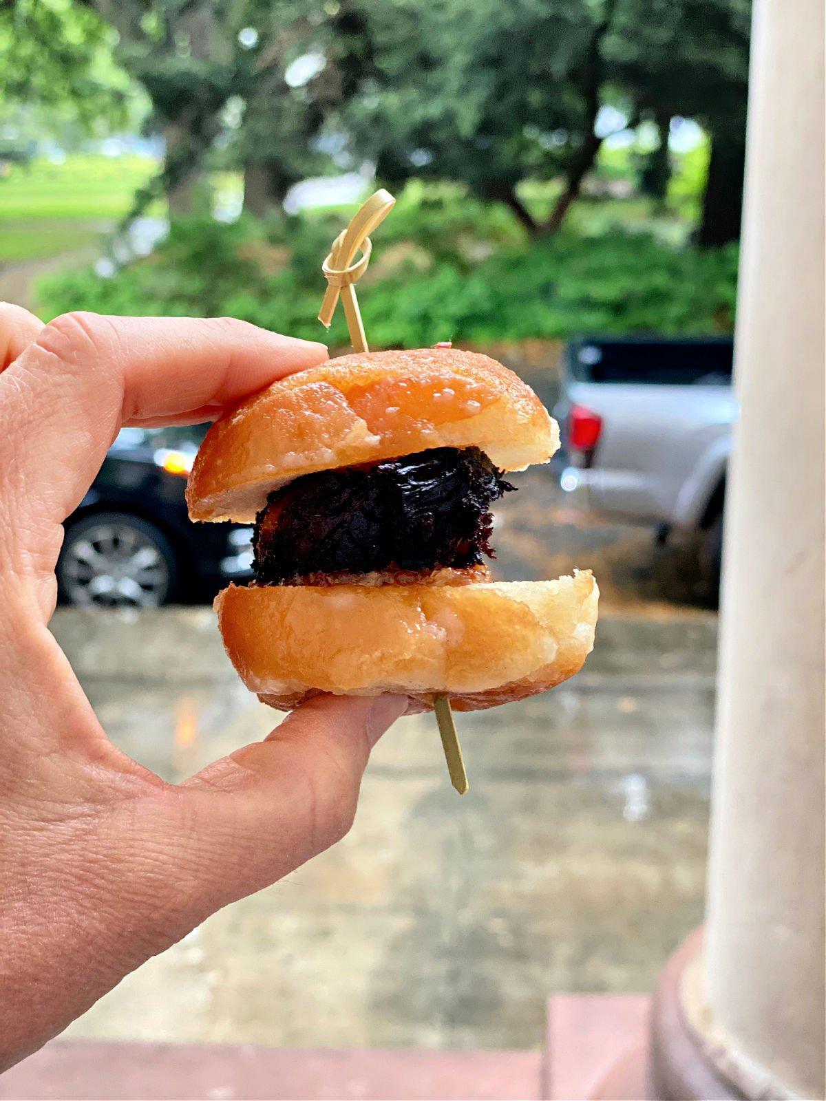 pork belly doughnut slider