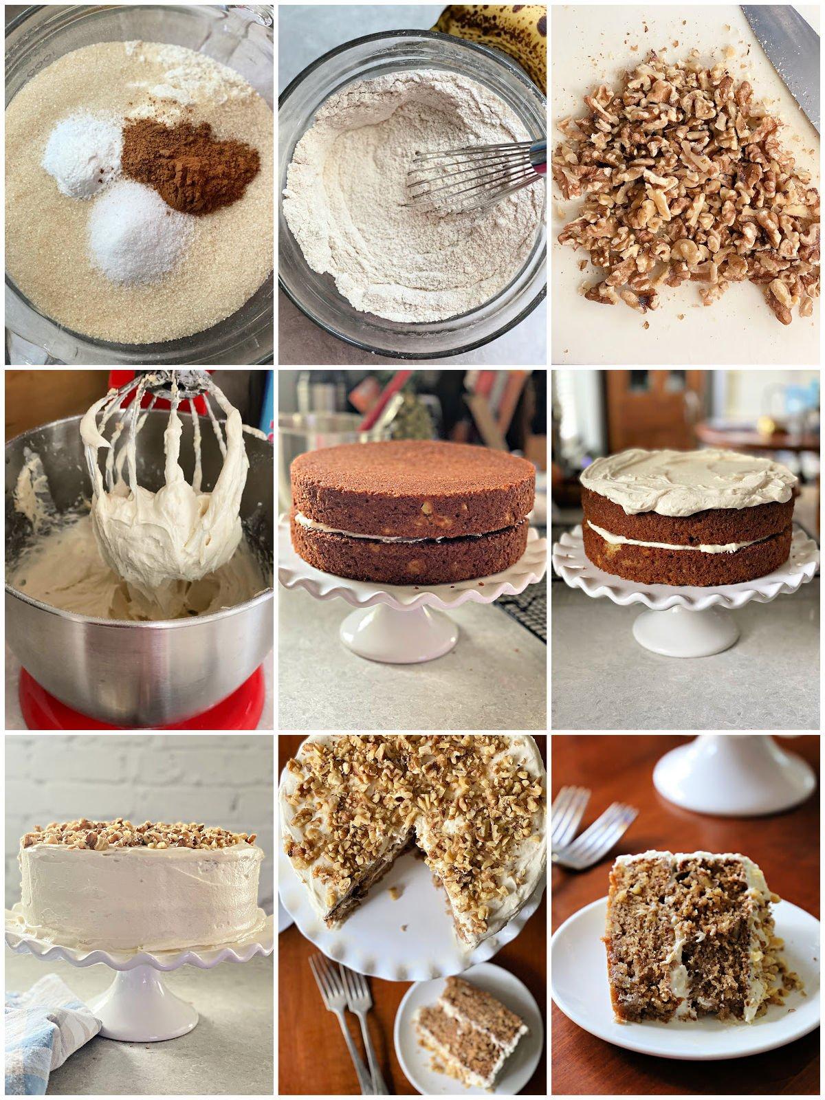 steps of making a hummingbird cake