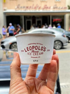 cup of Leopold's ice cream