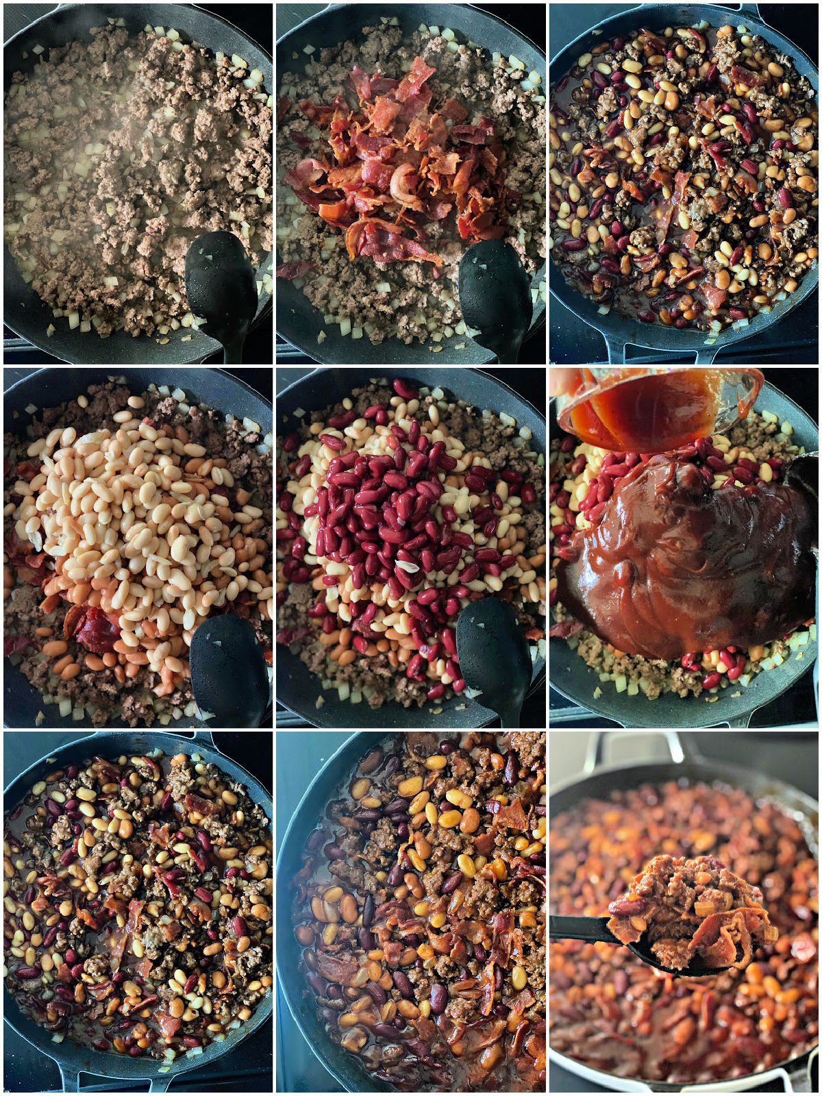 process of making bbq baked beans