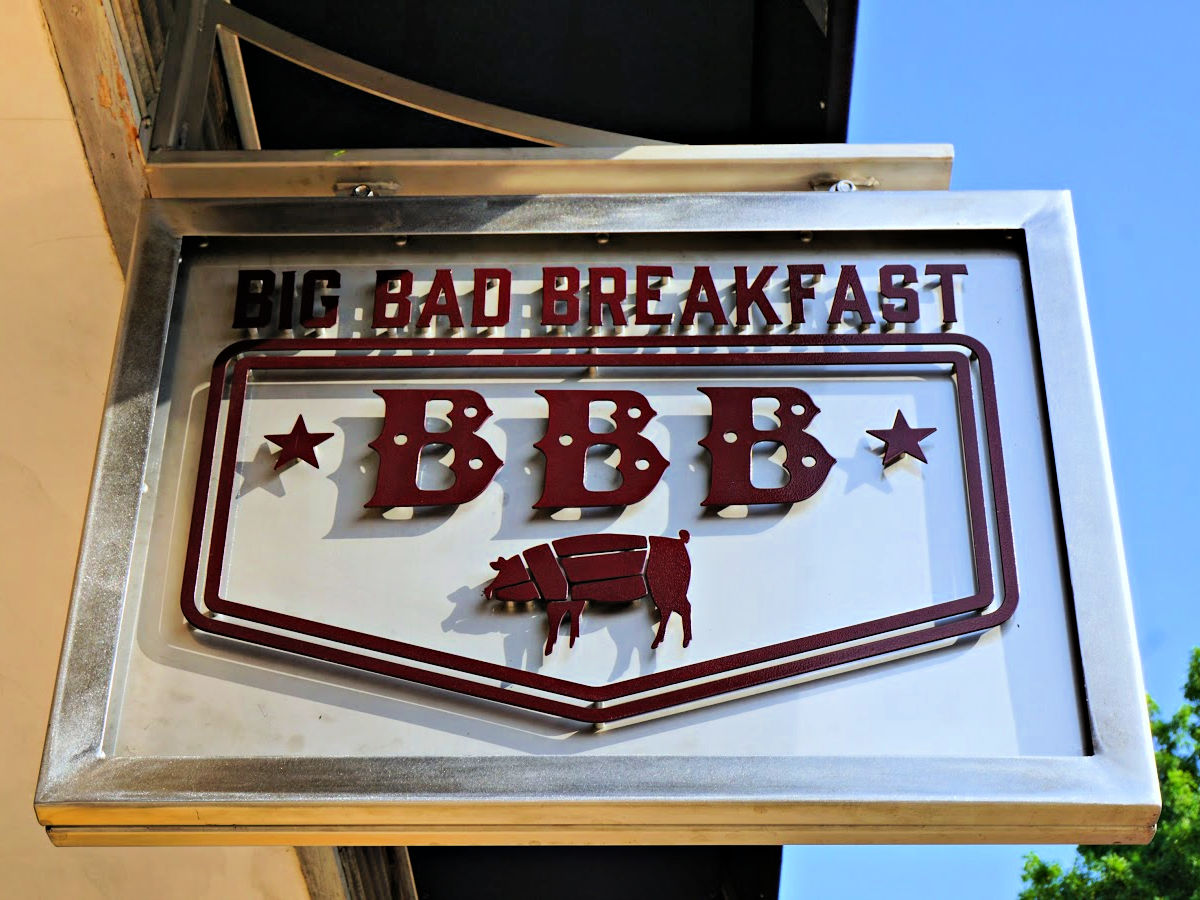 Big Bad Breakfast sign in Florence.
