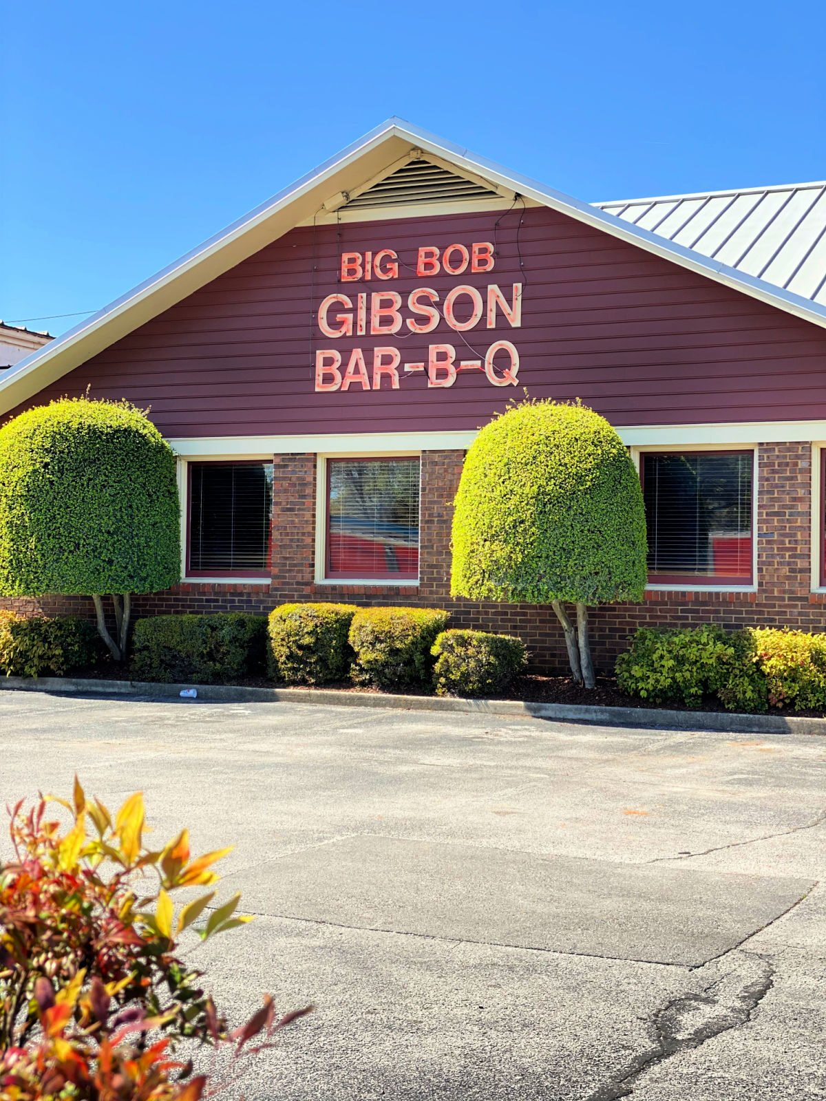 Big Bob Gibson's Restaurant on 6th in Decatur, Alabama.