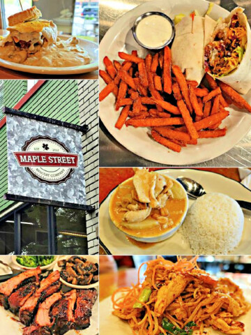 Collage of food that was made in Chattanooga.