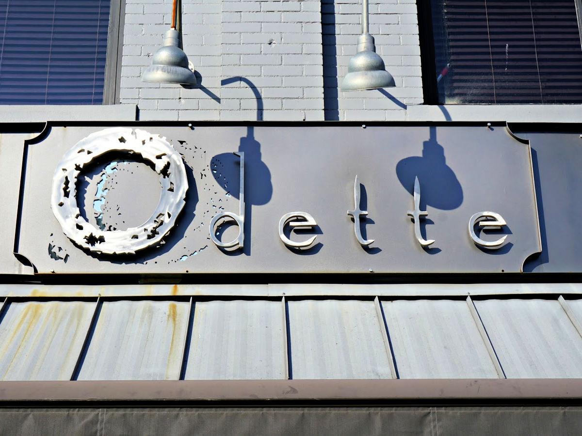 Odette restaurant sign in Florence.