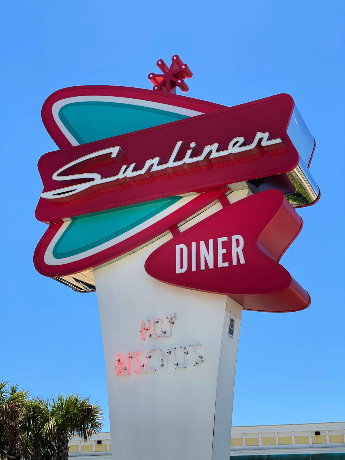The Sunliner Diner sign.