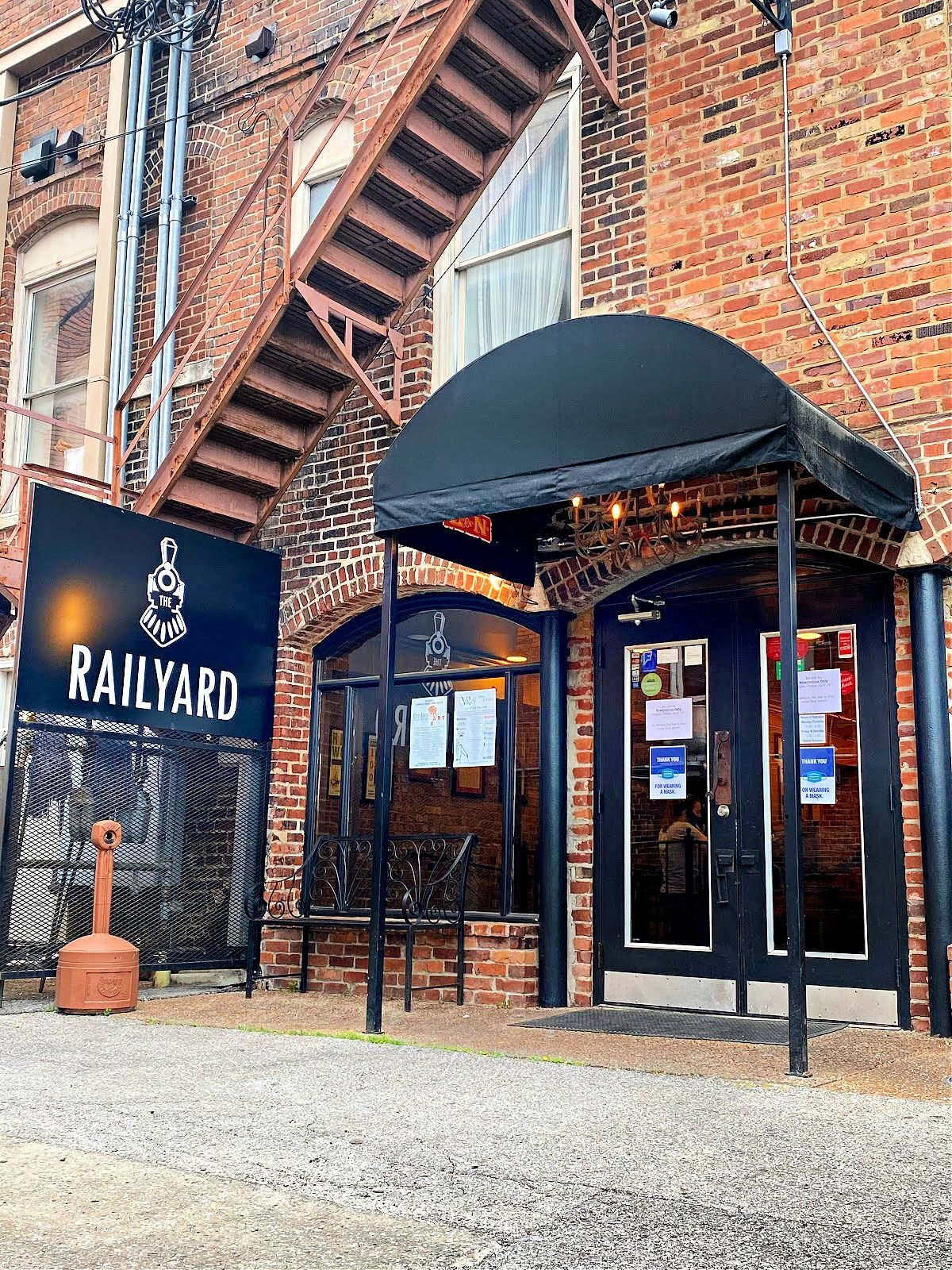 The back entrance of The Railyard in Decatur.