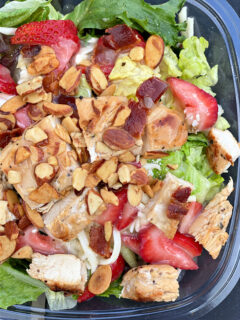 Bowl of Wendy's Summer Strawberry Salad.