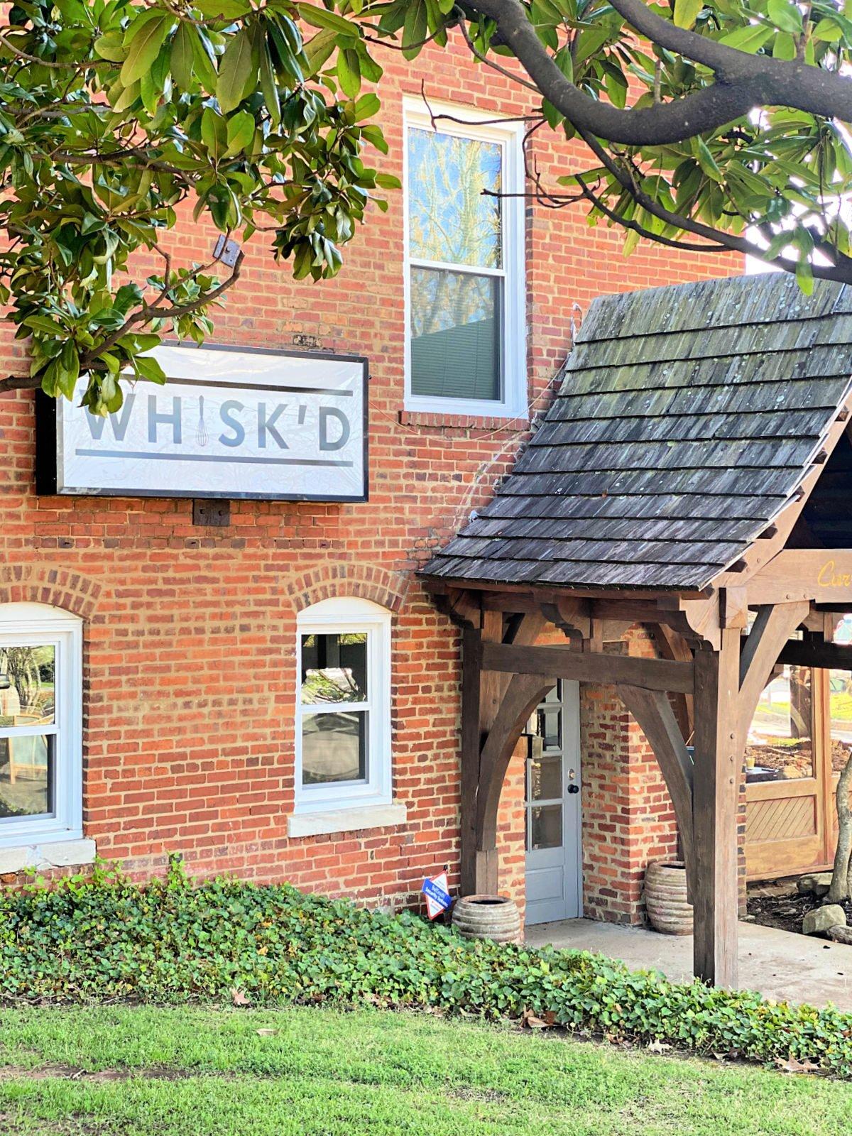 Front entrance of Whisk'd Cafe in Decatur.