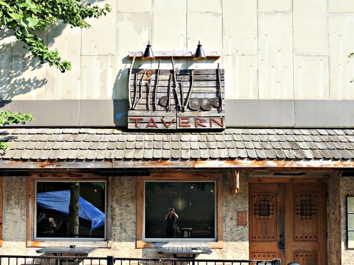 Wildwood Tavern restaurant entrance.