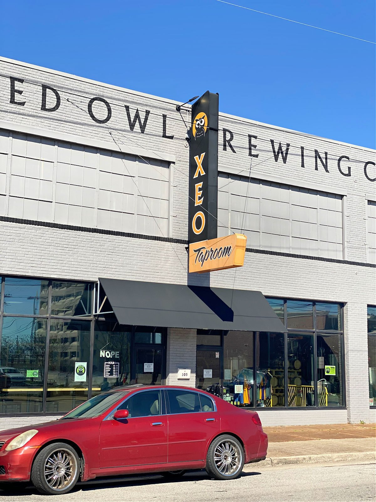Cross-eyed Owl Brewing Company building.