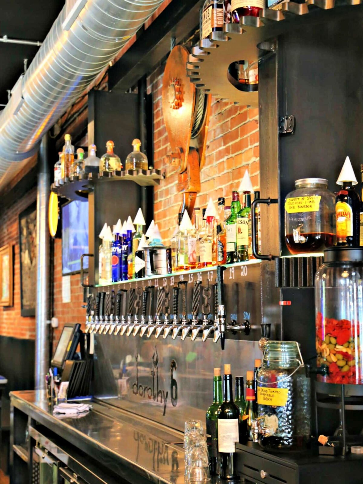 Beer dispenser at the bar inside Dorothy 6 in Pittsburgh.