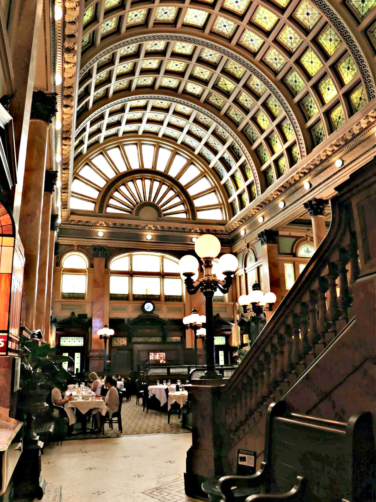 Atrium of the Grand Concourse in Pittsburgh.