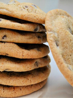 Stack of spicy chocolate chip cookies.