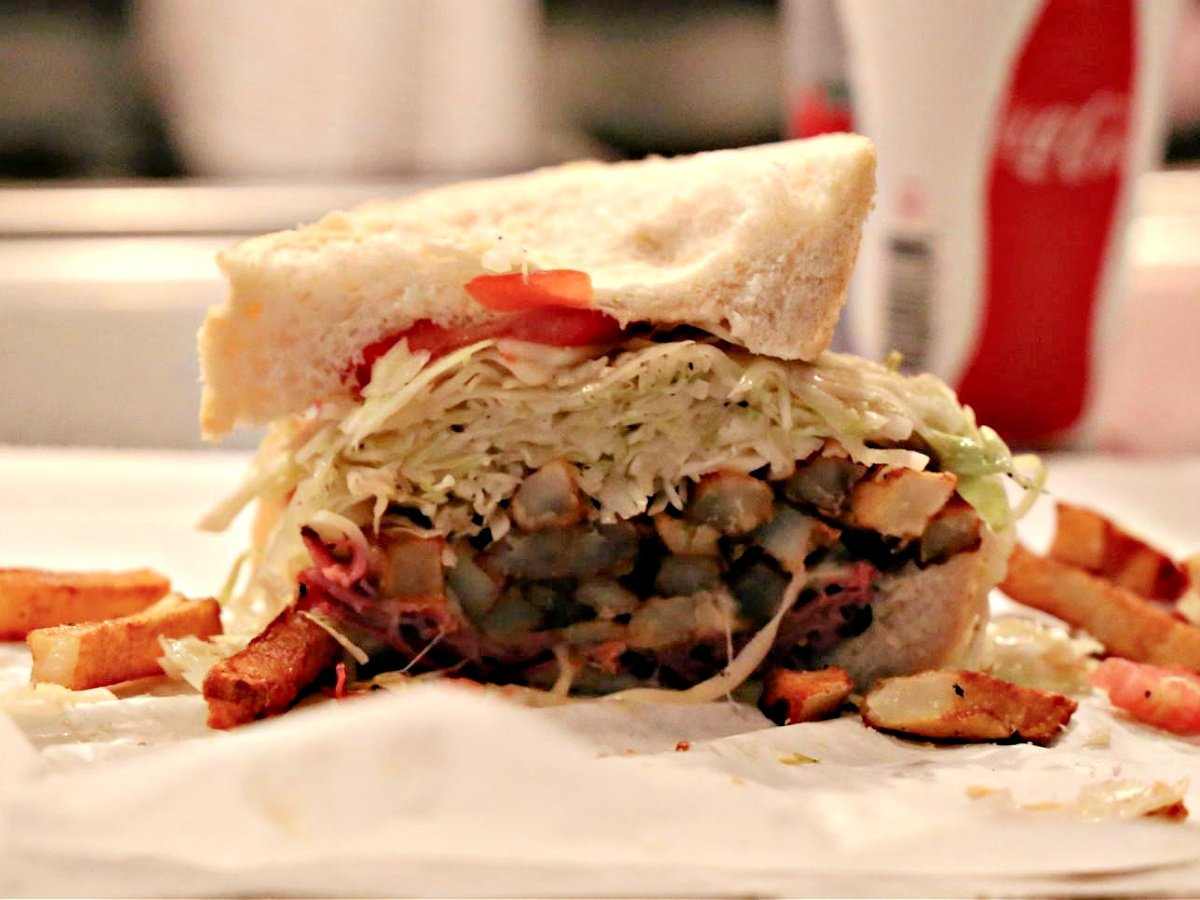Primanti Brothers' world famous sandwich on a plate..