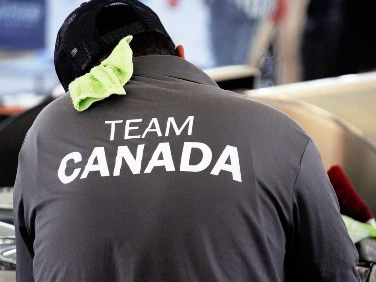 Man wearing a Team Canada shirt.