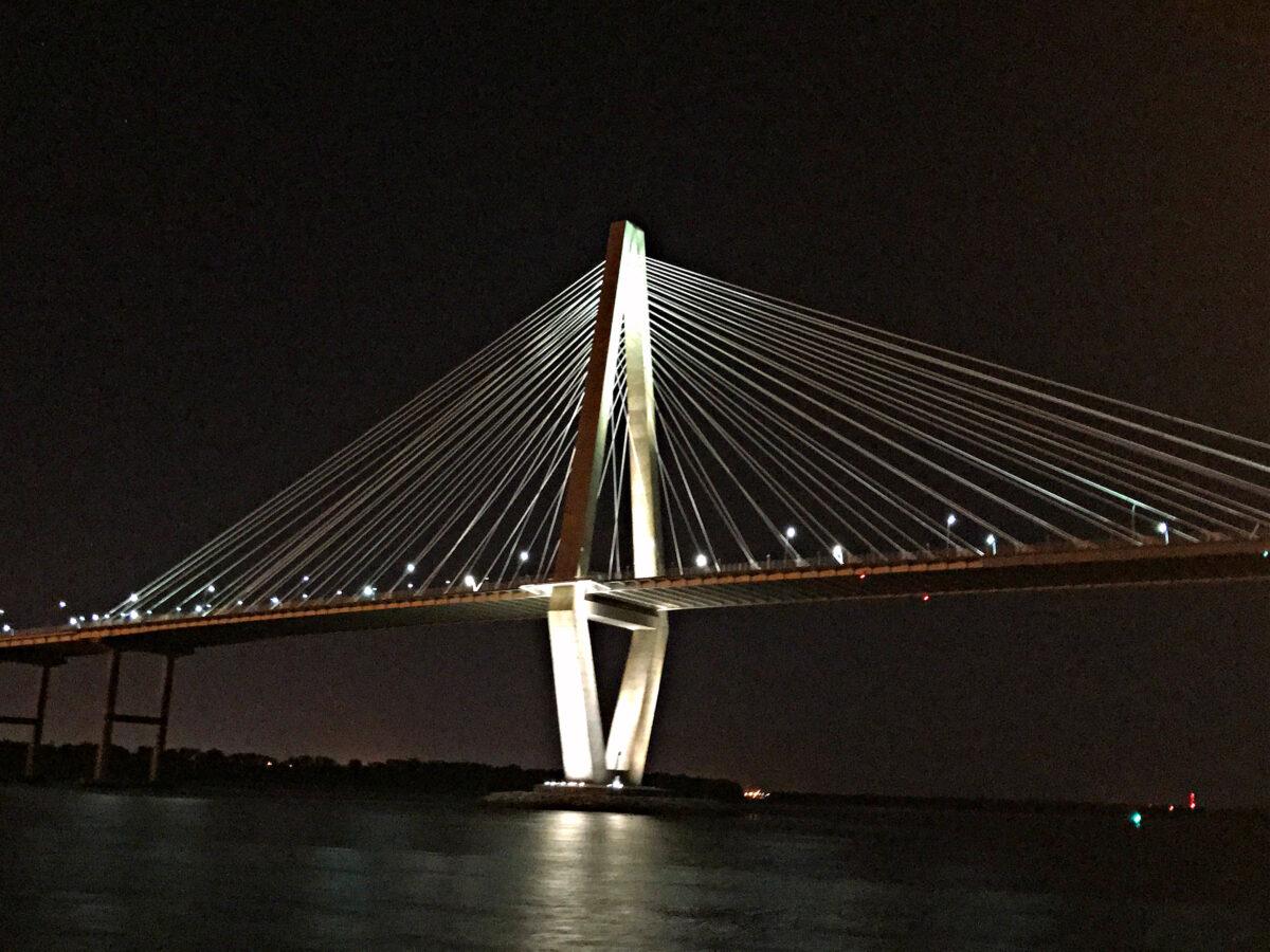 The Arthur Ravenel Jr. Bridge, a cable-stayed bridge.