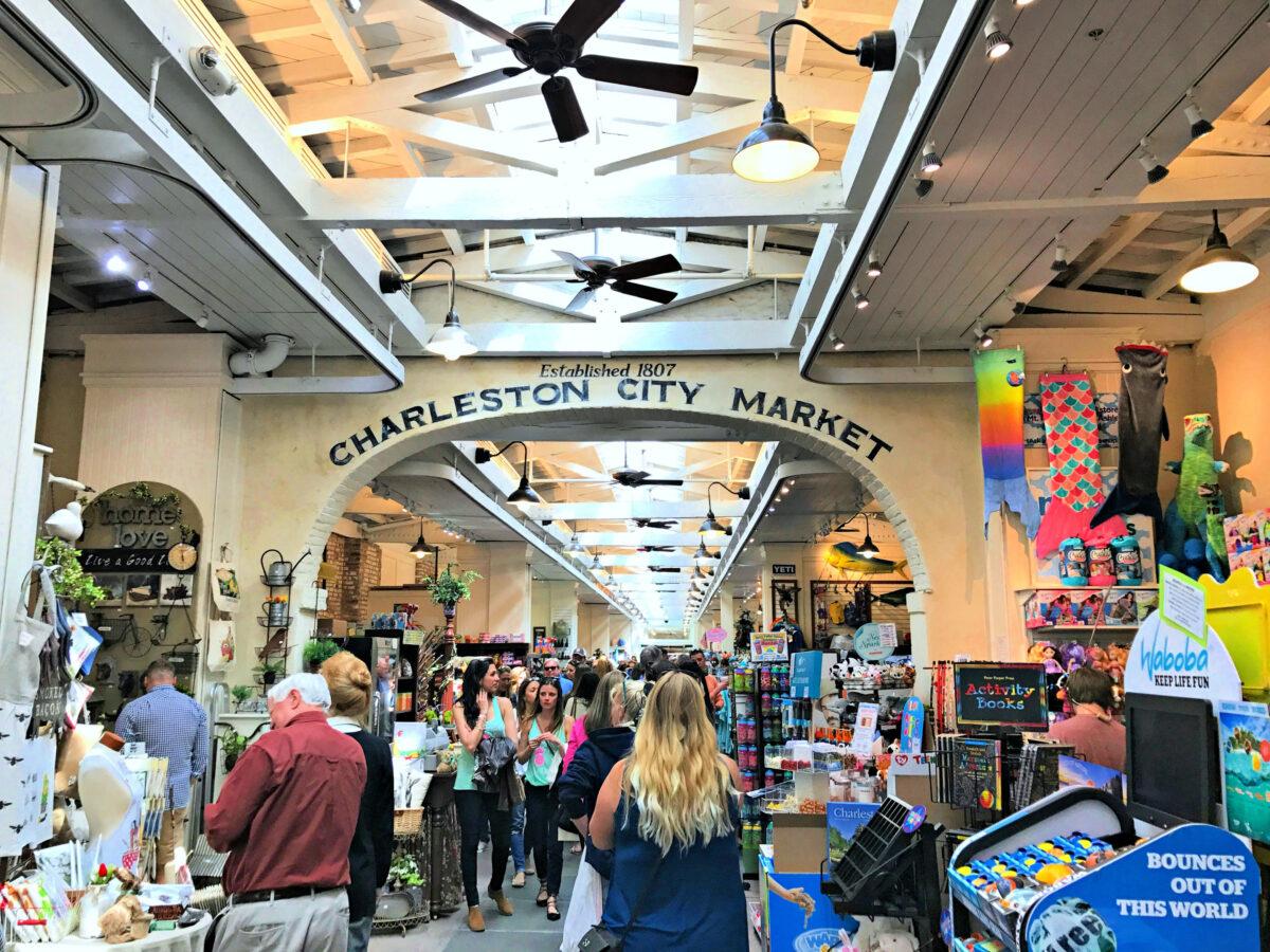 Inside the Charleston City Market.