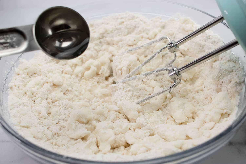 flour in a glass bowl