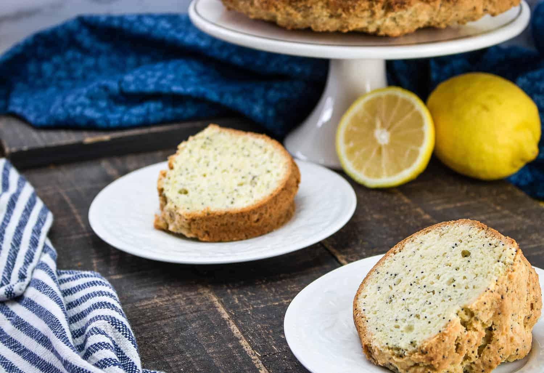 lemon poppy seed cake slices